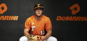 NASHVILLE,TN - JANUARY 26, 2015 - Infielder Nick Senzel #13 of the Tennessee Volunteers during the baseball photoshoot in Knoxville, TN. Photo By Robby Klein/Tennessee Athletics